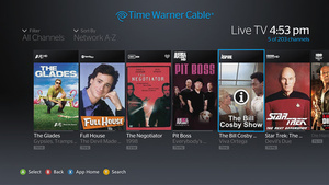 Time Warner Cable customers get live TV access through their Xbox