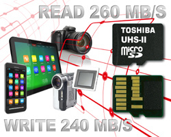 Toshiba shows off 'world's fastest' microSD cards