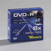 Media Review: Traxdata 8x DVD-R and DVD+R
