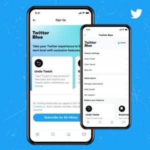 Twitter avasi maksullisen Twitter Blue -palvelun