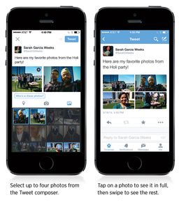 Twitter adds photo tagging, ability to have 4 photos in one post