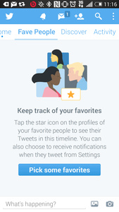 Twitter test 'Fave People' timeline met tweets van favoriete accounts