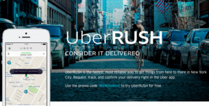 UberRUSH is here for on-demand deliveries