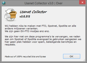 Usenet Collector, yet another Spotnet-kloon?