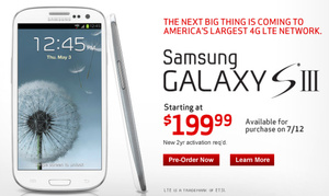 Galaxy S III delayed on Verizon until the 12th