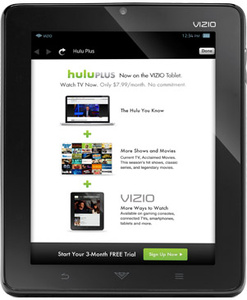 Vizio giving away 3 months of free Hulu Plus with their tablet