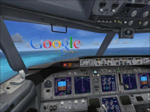 De vluchtsimulator in Google Earth
