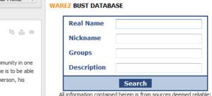 Warez Bust Database goes live