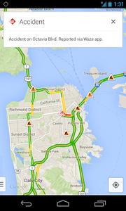 Google adds incident reports to Maps app following Waze purchase