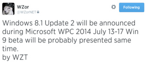 Windows 8.1 Update 2 RTM imminent?