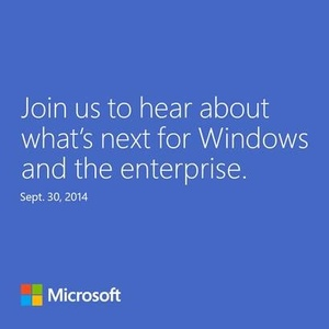 Invites sent for September 30th 'Windows 9' event