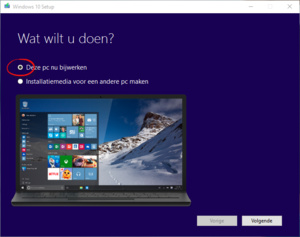Direct upgraden naar Windows 10