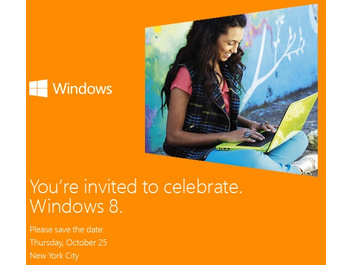 Microsoft to launch Windows 8 at event on October 25