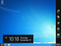 Windows 8 build leak shows Charm Bar, IE auto-update