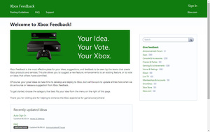 Xbox Feedback site wants your advice