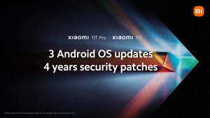Xiaomi promises 3 major Android updates for Xiaomi 11T and 11T Pro