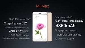 Xiaomi shows off giant MiMax smartphone