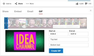 You can now create GIFs from YouTube videos