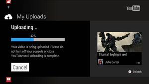 Upload Xbox One gamplay footage to YouTube directly