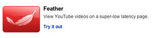 YouTube kevenee Feather-ominaisuudella