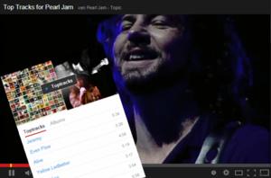 Youtube geeft hele albums en top tracks weer bij zoeken op artiest